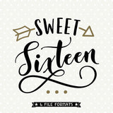 Sweet Sixteen SVG file