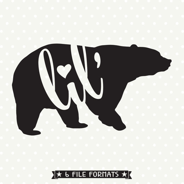 bear family svg file