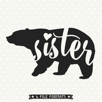 Sister Bear SVG file