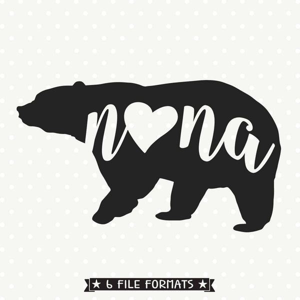 Nana Bear Iron on file