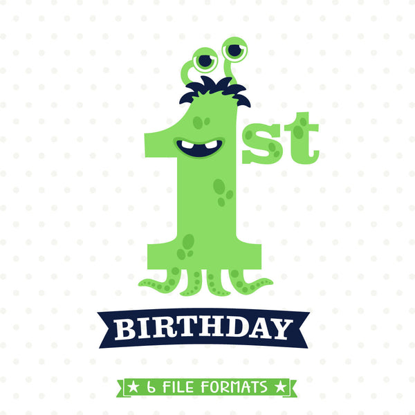 Monster Birthday SVG