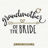 Bridal Party Shirt cut file