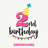 2nd Birthday Iron on file