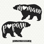 Bear Family svg