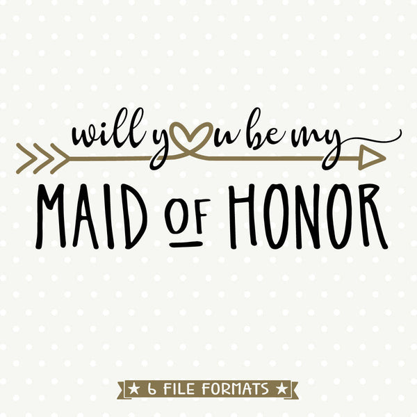 Maid of Honor Gift svg design