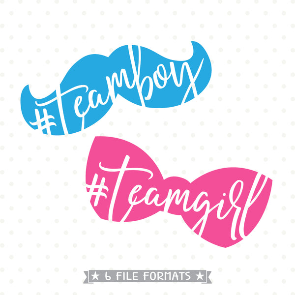 Gender Reveal SVG file, Team Boy SVG, Team Girl SVG