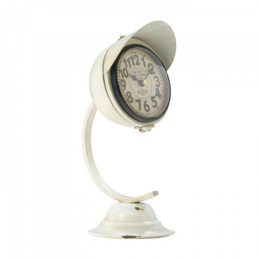 White Vintage Desk Clock - Dan's Market Shop