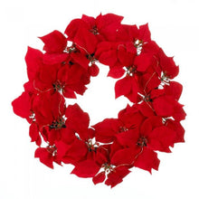 Fairy Lights Poinsettia Wreath - Dan's Market Shop