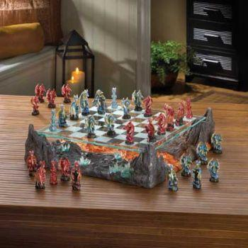 Fire River Dragon Chess Set - Dan's Market Shop