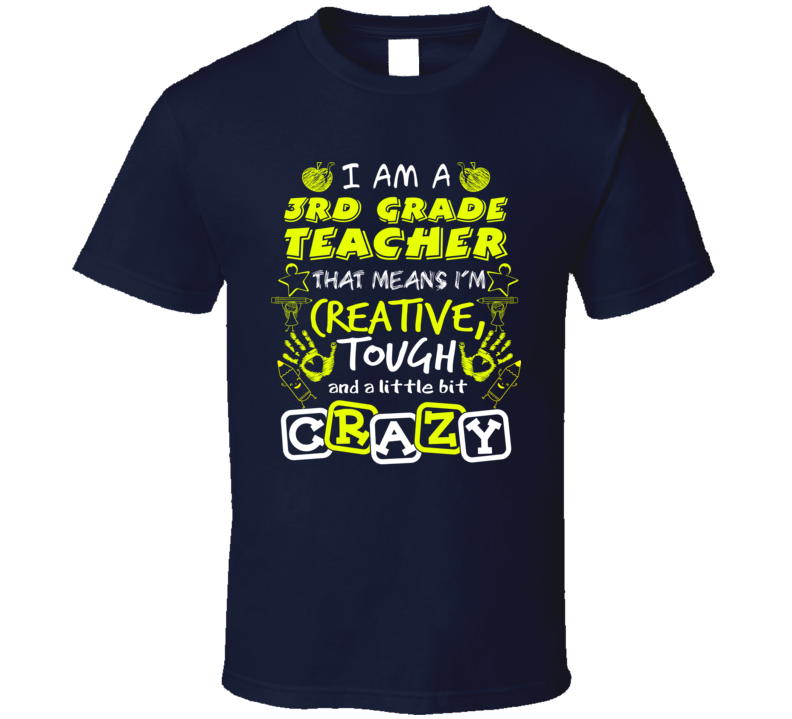 3rd Grade Teacher T Shirt - Dan's Market Shop
