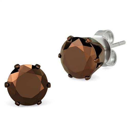 Mocha Stud Earrings - Dan's Market Shop