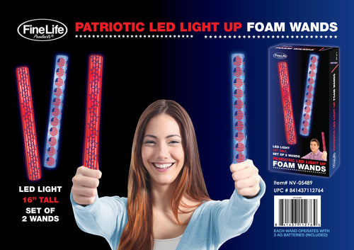 Patriotic Light Up Foam Baton Set - Dan's Market Shop