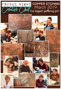 Friday Night Creative Chill - Copper Etching Recap