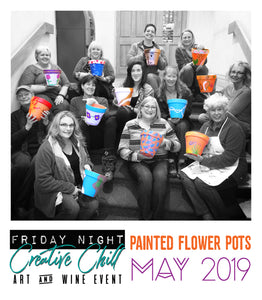 Friday Night Creative Chill Painted Flower Pots Recap