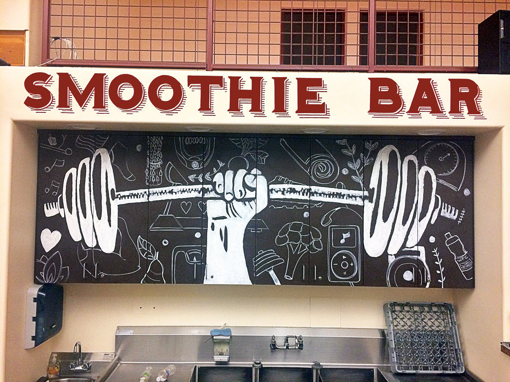 Woodland Fitness Center Mural, Completato