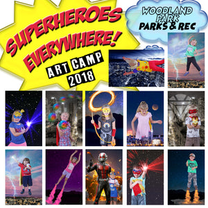 """Superheroes Everywhere"" Art Camp 2018"