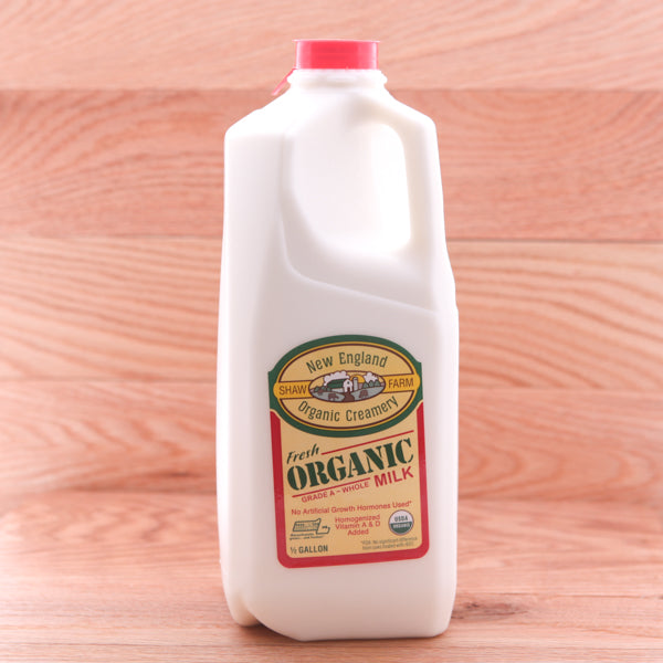 Organic Cow Milk 1/2 Gallon