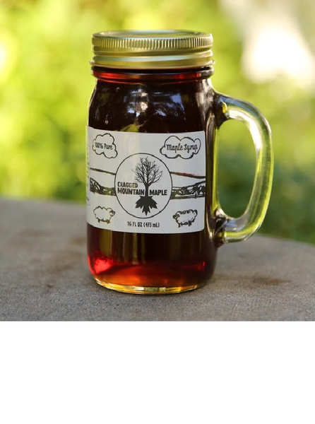 Maple Syrup Glass  16 oz Mason Jar