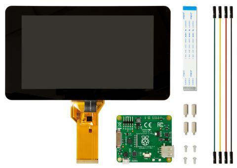 "Raspberry Pi 7"" Official Touchscreen Display With Stand"