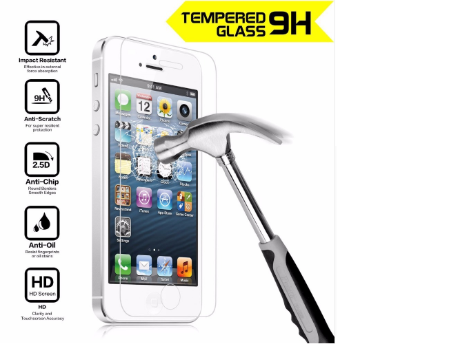 ProtectaShield - Super Thin (0.3mm) Tempered Glass iPhone Screen Protector
