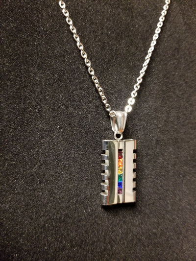 Barber Necklace, Rainbow Necklace
