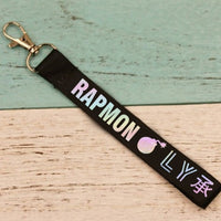KPOP Keychain Laser Bangtan Boys Lanyard Love Yourself Key Chains Jung Kook V SUGA JIMIN JHOPE RM Keyring  Accessories - Goodies Online Store
