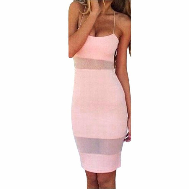 Women Sexy Sleeveless Camis Bodycon Summer Dress Evening Party Bandage Dress for Women 2017 - Goodies Online Store