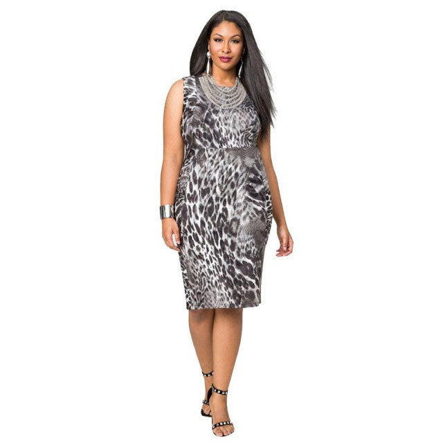 JECKSION Summer Bandage Women Dress Sexy Leopard Printing Lady Mini Dress Plus Size Party Dress Large Size M~XXL #LSIW - Goodies Online Store