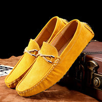 Summer genuine leather men shoes casual driving shoes leather mocassin soft breathable men flats brand shoes suede men loafers - Goodies Online Store