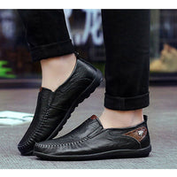 Merkmak Fashion Casual Driving Men Shoes Genuine Leather Loafers Shoes New Men's Loafers Luxury Brand Men Flats Shoes Chaussure - Goodies Online Store