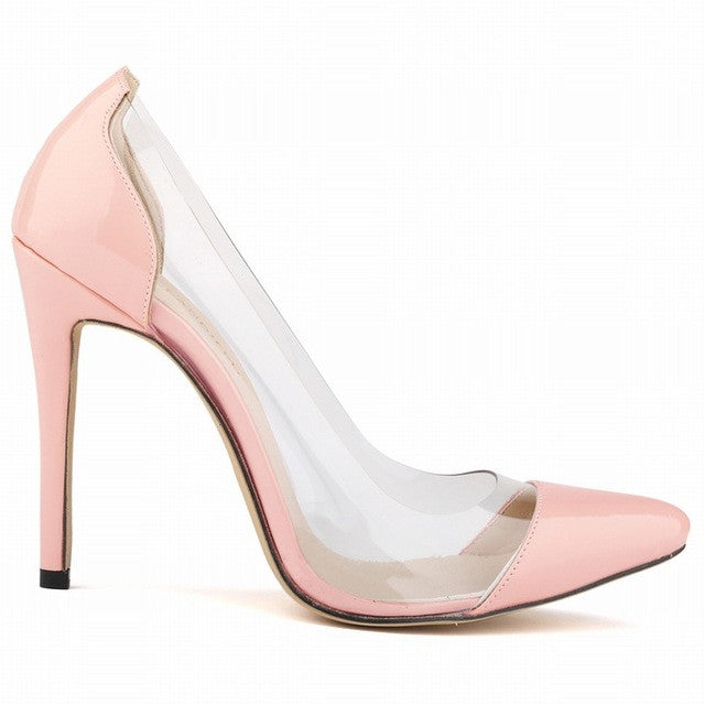 Merkmak Clearance Women Sexy Shoes Stylish 11CM Thin High Heels Pumps Transparent Wedding Party Office Women Shoes Super Cheap! - Goodies Online Store