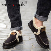 Merkmak Winter Warm Shoes's Men 2016 New Brand Fashion Casual Plush Slip On  Flats Men Shoes Breathable Zapato Hombre Wholesales - Goodies Online Store