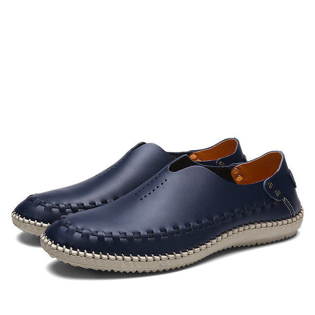 Merkmak Brand Summer Causal Shoes Men Loafers Genuine Leather Moccasins Men Driving Shoes High Quality Flats For Man size 39-46 - Goodies Online Store