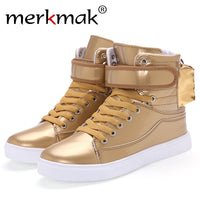 Merkmak Unisex Fur Warm Winter Boots 2016 Newly Fashion High Top Autumn Winter Warm Leather Boots Outdoor Ankle Zapatos Hombres - Goodies Online Store
