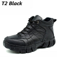 High Quality Genuine Leather Men Shoes Winter Men Ankle Boots Waterproof Antislip Male Outdoor Footwear Combat Military Boots - Goodies Online Store