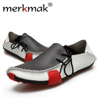 High Quality Hot Sale Genuine Leather Men Shoes Casual Comfortable Mens Driving Shoes Soft Loafers Business Wedding Mens Flats - Goodies Online Store