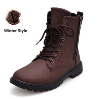 Merkmak British Style Men Boots 2016 Autumn Fur Warm Winter Man Martin Boots Ankle Wedge Fashion Casual High Top Zapatos Hombres - Goodies Online Store