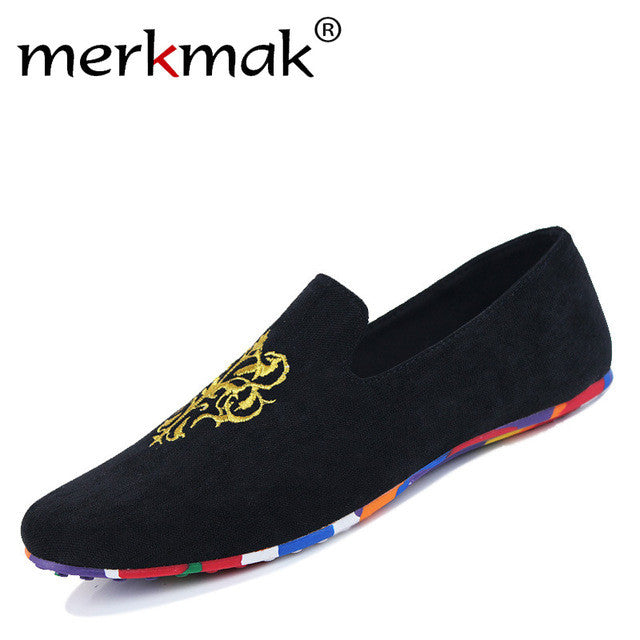 Hot Sale Velvet Loafers Men Shoes Men's Flats Male Slip-On Driving Shoes Large Size Soft Comfortable Designer Loafers Moccasins - Goodies Online Store