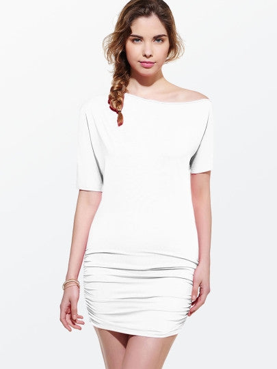 Short Sleeve Ruffle Women's Bodycon Dress - Goodies Online Store
