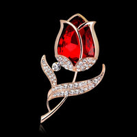 Hot New Large Fashion Drop Pendant Wedding Lady Rhinestone Brooch - Goodies Online Store