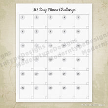 Load image into Gallery viewer, 30 Day Fitness Challenge Printable