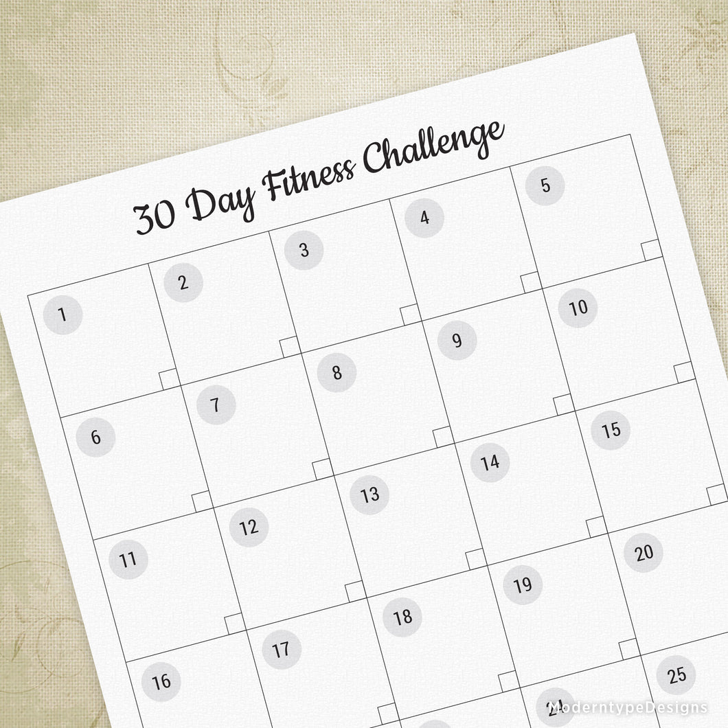 graphic about 30 Day Challenge Printable identify 30 Working day Health Dilemma Printable