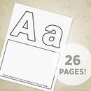 A-Z Alphabet Coloring Pages Printable