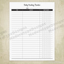 Baby Feeding Tracker Printable