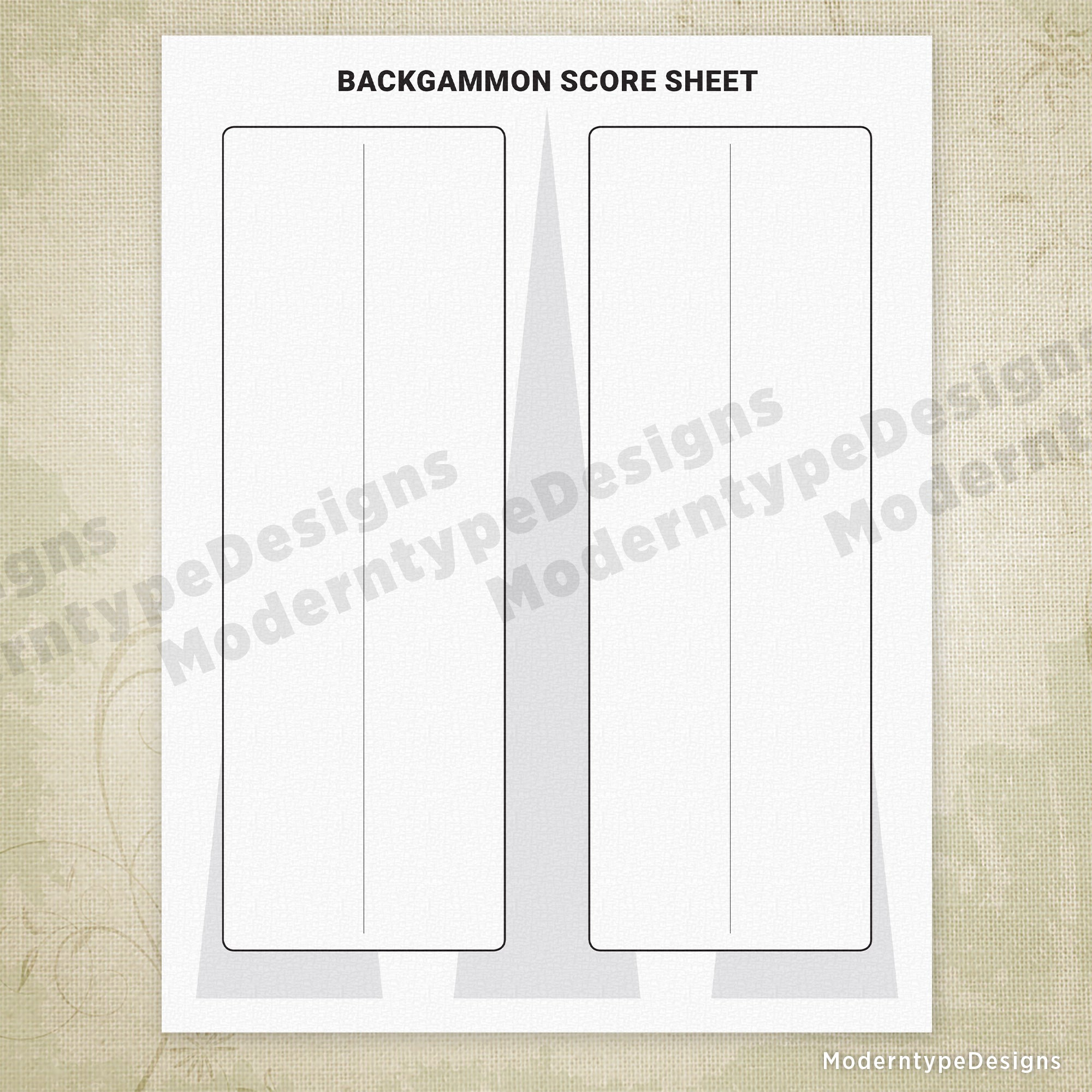Backgammon Scoring