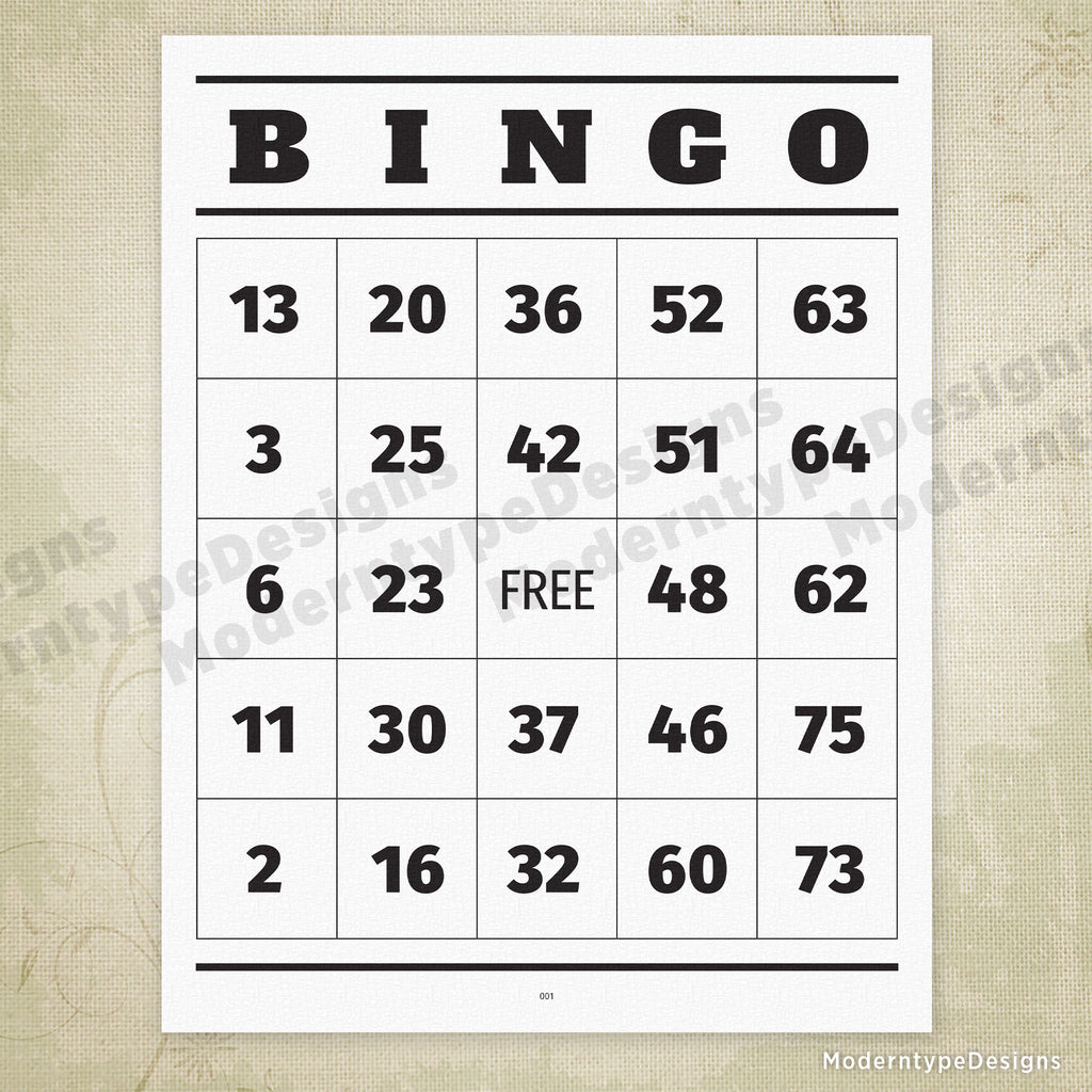 It's just a picture of Current Printable Bingo Numbers 1-75