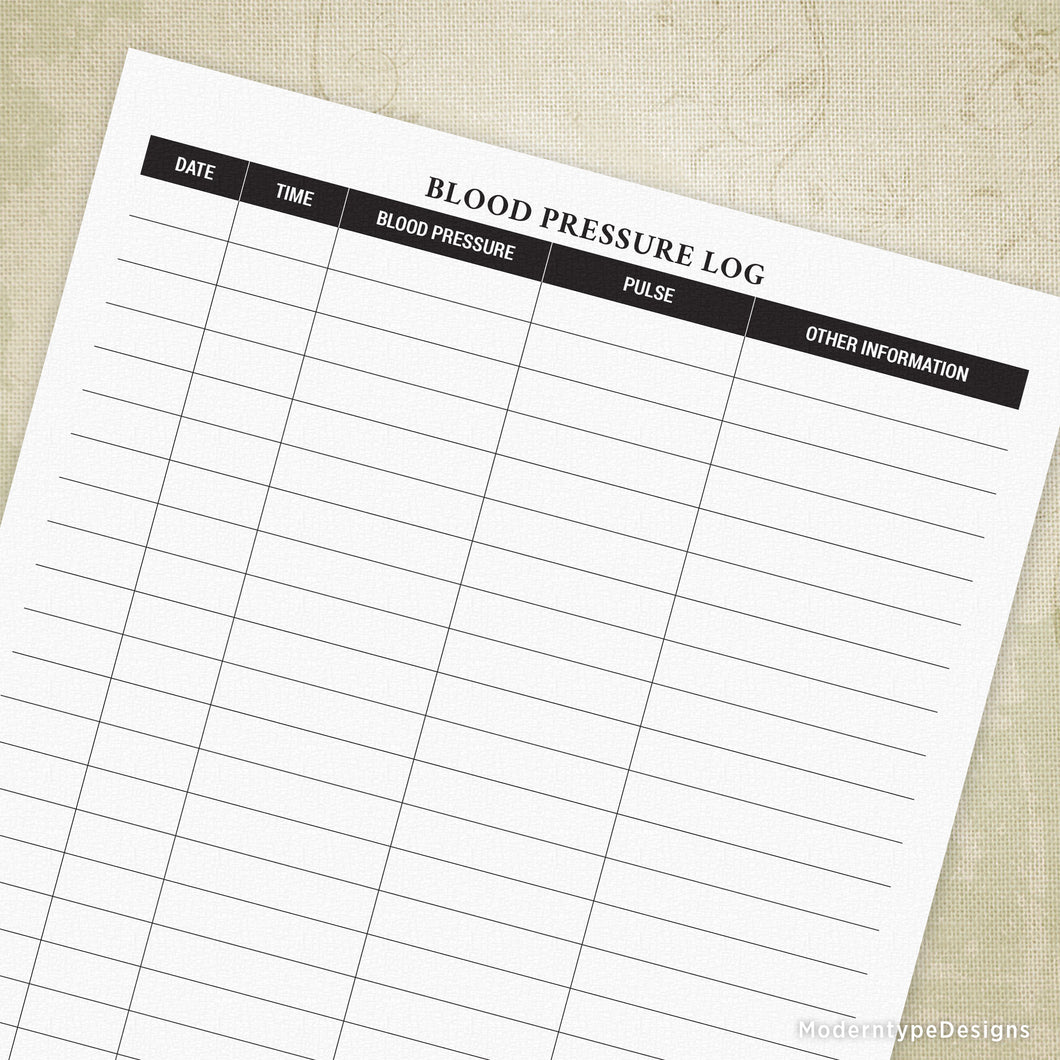 photograph regarding Blood Pressure Log Printable named Blood Anxiety Log Printable Style