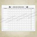 Bowling Scoring Sheet Printable