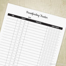 Breastfeeding Tracker Printable