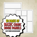 Basic Comic Book Panels Printable